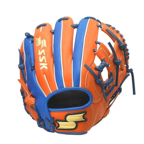 エスエスケイ (SSK) 少年軟式 野球 オールラウンド用 Super Soft スーパーソフト MLBモデル ジュニア (20ss) オレンジ×ブルー 右投げ用 サイズLL SSJRC-3560【P10】