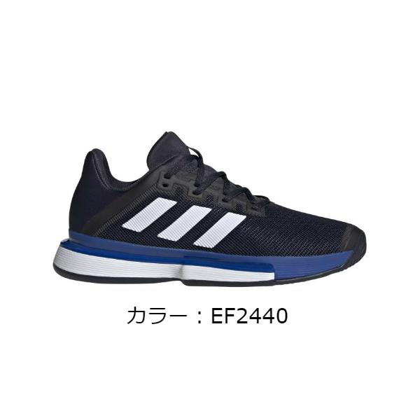 アディダス(adidas) SoleMatch Bounce テニスシューズ (20SS) レジェンドインク/フットウェアホワイト/チームロイヤルブルー EF2440【SS2006】
