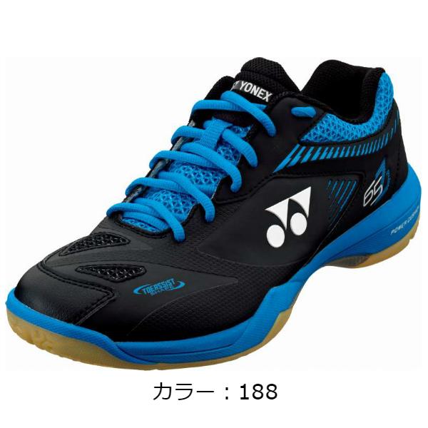 ヨネックス(yonex)POWER CUSHION 65 Z 2 バドミントンシューズ (20SS) ブラック/ブルー 日本バドミントン協会審査合格品 SHB65Z2-188