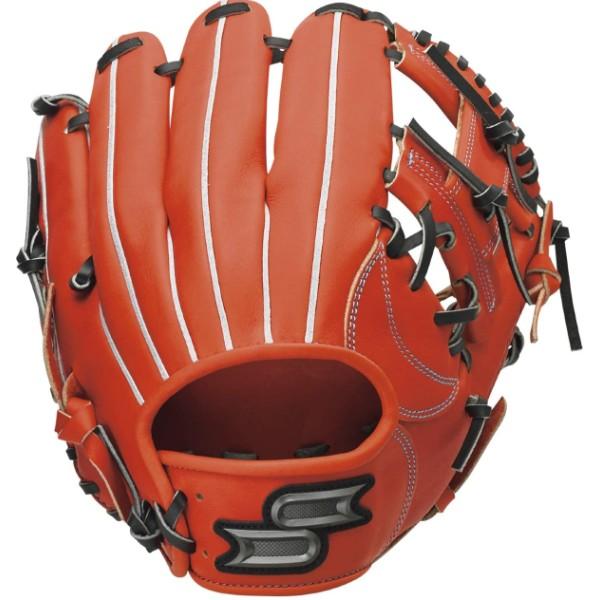 エスエスケイ(SSK) proedge(プロエッジ) 硬式グラブ 内野手用 一般 (20aw) レディッシュオレンジ×ブラック レングス:6L PEK86620F-3390