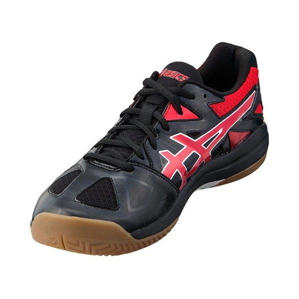 【バレーボールシューズ】 バレーシューズ 靴 アシックス (asics) バレーボールシューズ ROTE BREAK ローカット ワイド メンズ レディース ユニセックス ブラック×クラッシックレッド 1053A025-001