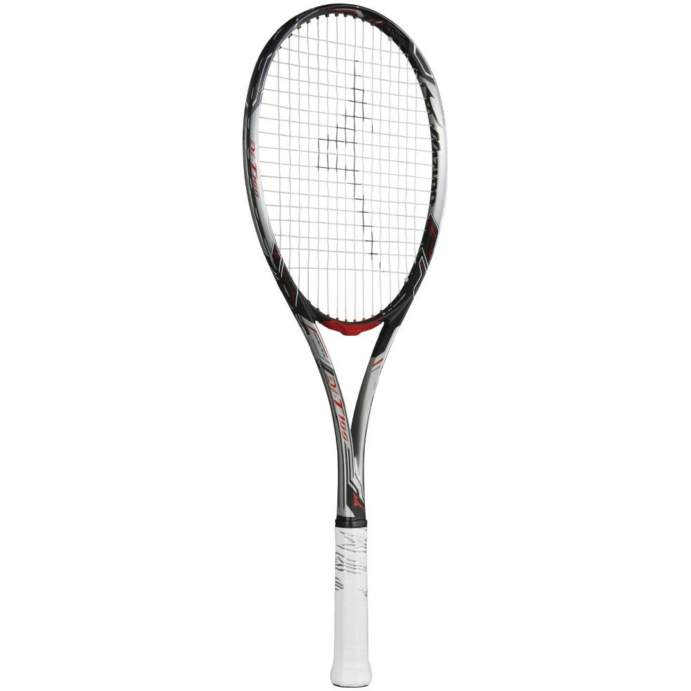 ミズノ mizuno DI-T100(ディーアイティー100)テニス&ソフトテニス ラケット (18ss) ソリッドシルバー×ブラック 63JTN84303
