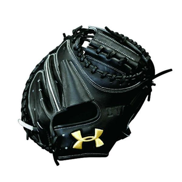 アンダーアーマー(UA)野球ミット(硬式右投げ捕手用)ブラック QBB0060-BLK