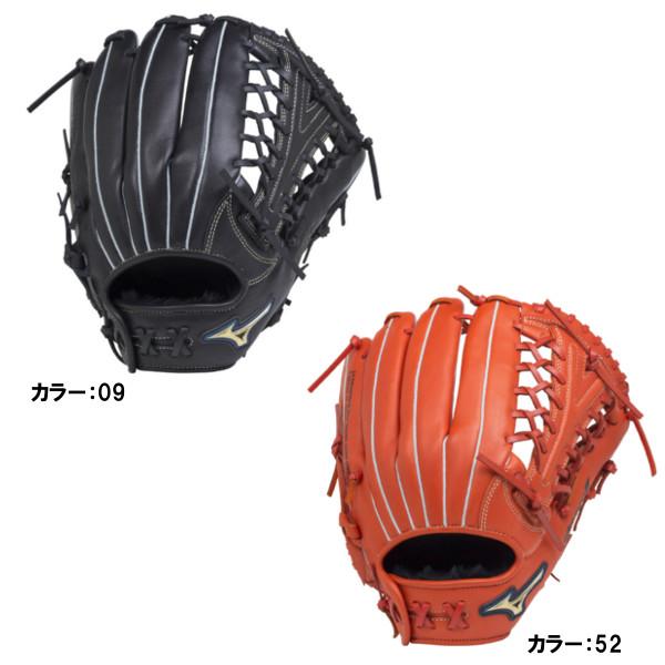 ミズノ(mizuno) セレクトナインAXI ソフトボール用グラブ オールラウンド用:サイズ14 グラブ 一般 (18ss) ブラック/スプレンディッドオレンジ 1ajgs18707