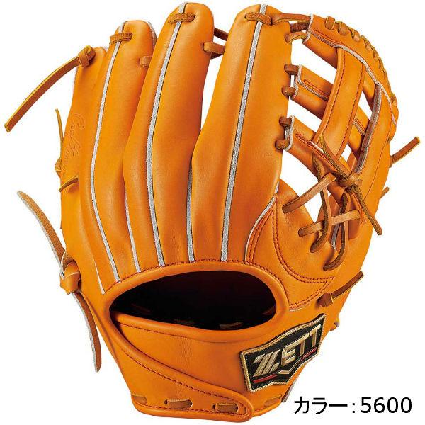 ゼット(zett) プロステイタスプレミアム 硬式グラブ 二塁手・遊撃手用 (18SS) オレンジ BPROG14P-5600