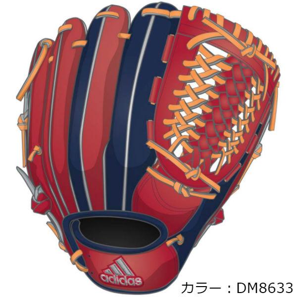 アディダス(adidas) 軟式グラブ 内野手用3 (18FW) スカーレット/ダークブルー ETY92-DM8633