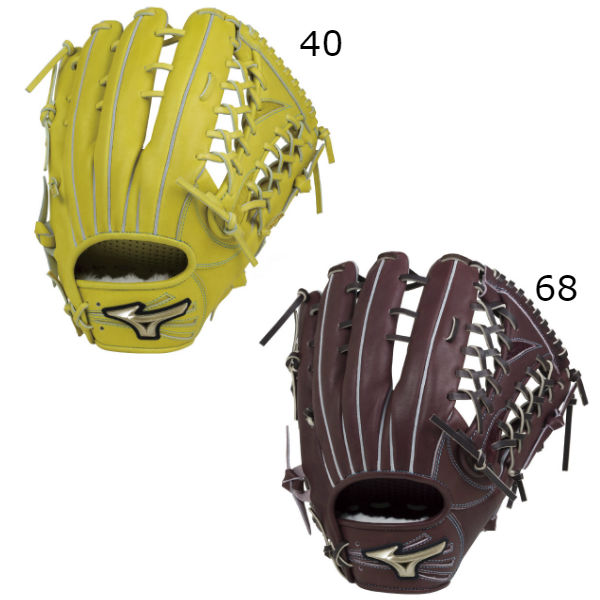 ミズノ(mizuno) グローバルエリート Hselection00 硬式野球 外野手用グラブ (18aw) ナチュラルライム プラムブラウン サイズ16N 1AJGH19307-40/68/68H 野球用品