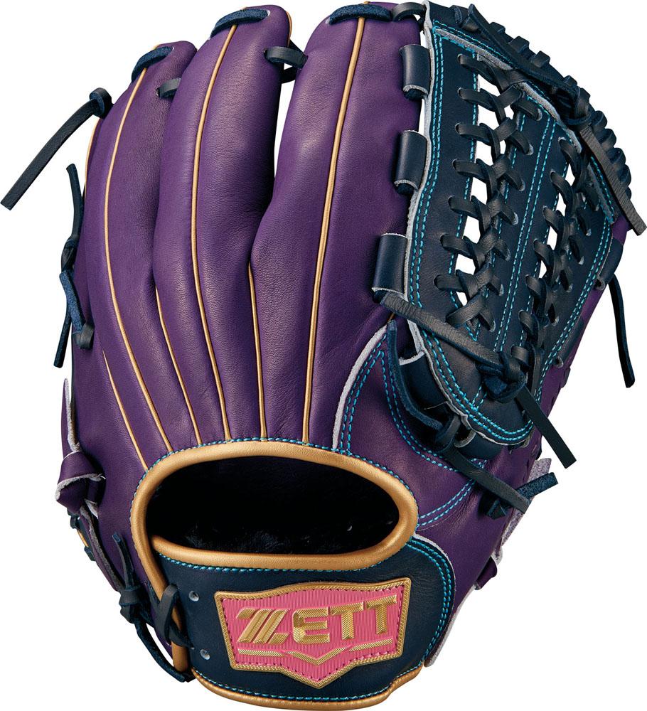 ゼット(zett) ネオステイタス 軟式グラブ 二塁手・遊撃手用 (18fw) パープル×NBLKP サイズ:4 BRGB31850-7419NP