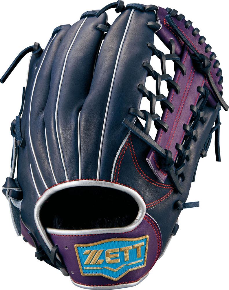 ゼット(zett) ネオステイタス 軟式グラブ オールラウンド用 (18fw) NBLK×パープル サイズ:5 BRGB31860-1974NS 野球用品