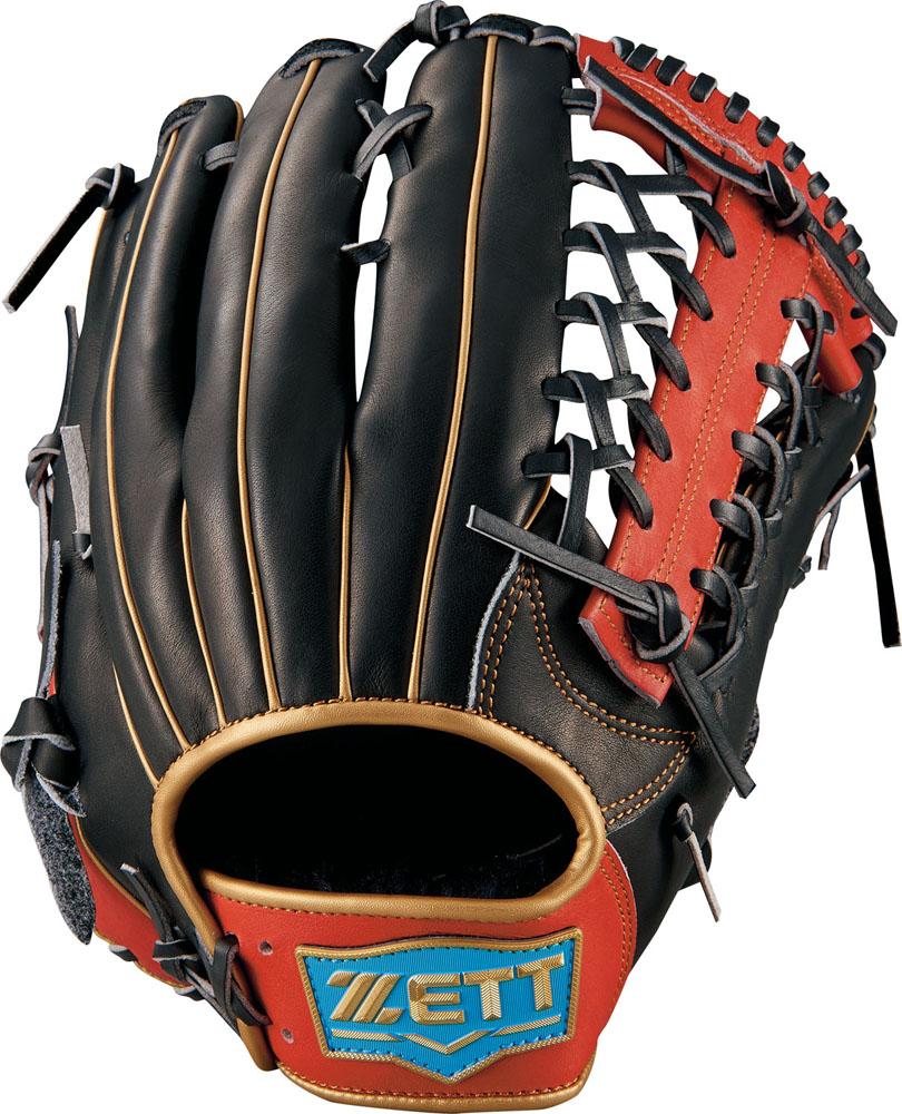 ゼット(zett) ネオステイタス 軟式グラブ 外野手用 (18fw) ブラック×レッド サイズ:4 BRGB31877-1964s 野球用品