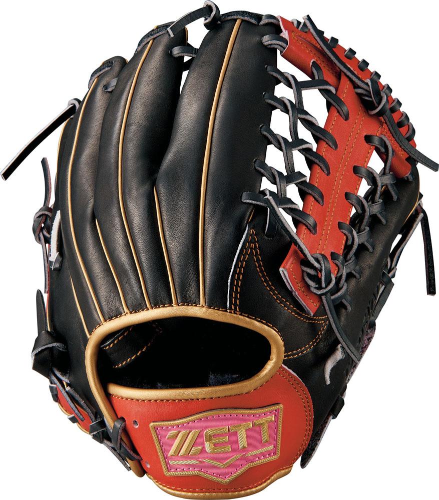 ゼット(zett) ネオステイタス ソフトグラブ オールラウンド用 (18fw) ブラック×レッドP サイズ:5 BSGB51850-1964P 野球用品