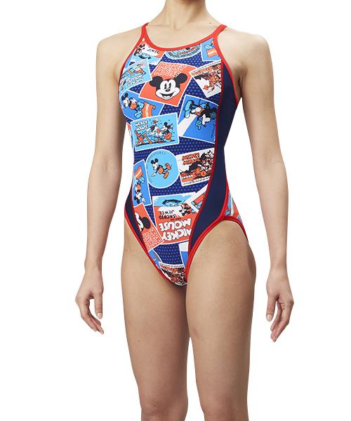 アリーナ(arena) 競泳水着 ディズニーコレクション ジュニアスーパーフライバック (18aw) ネイビー×マリン DIS-8353WJ-NVY