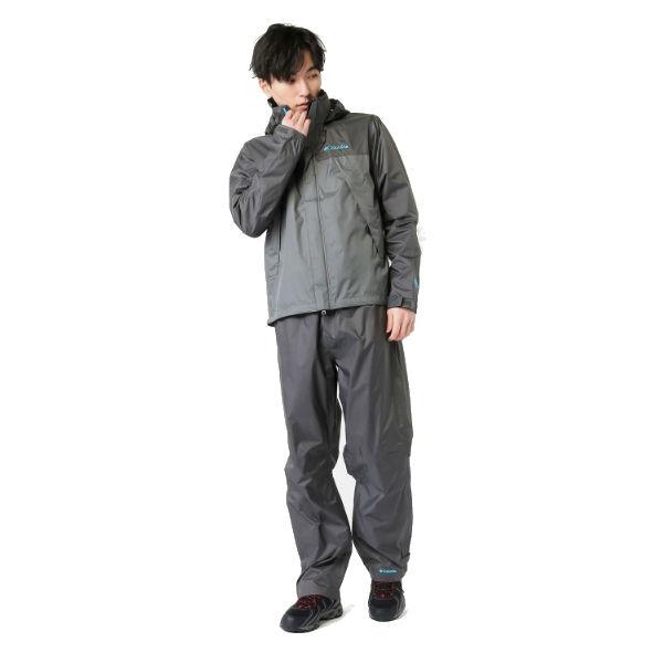 コロンビア(Columbia) シンプソンサンクチュアリレインスーツ メンズ (18ss) Grill グレー PM0124-028【特価】