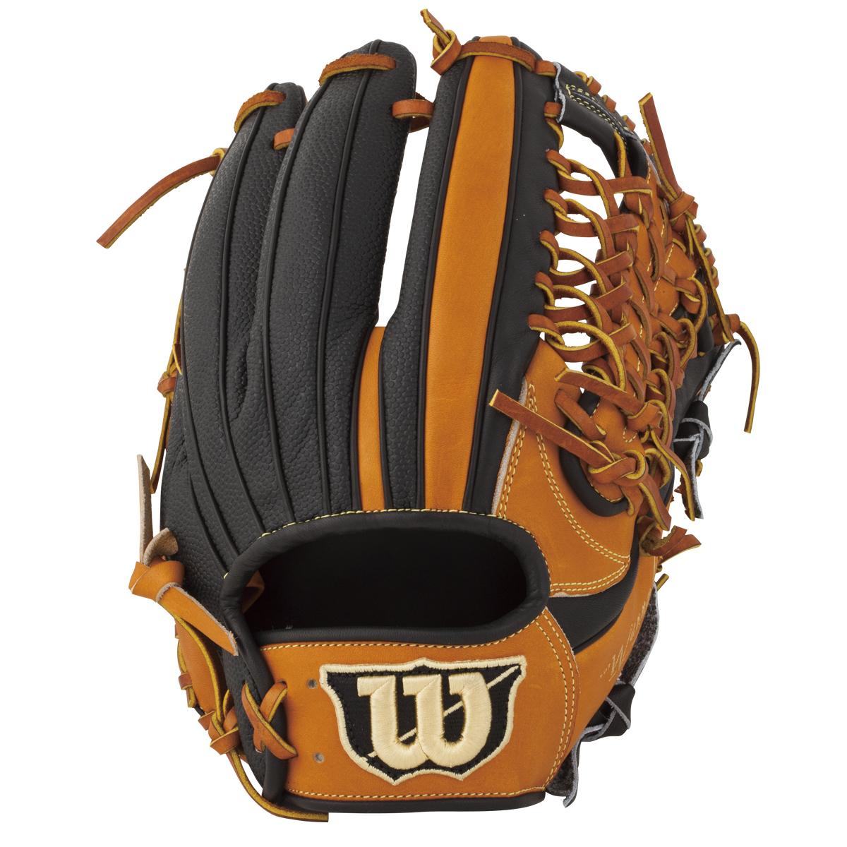 ウイルソン(wilson)Wannabe HERO/DUAL(ワナビーヒーローデュアル)軟式野球用 オールラウンド用グラブ(右投げ)(18ss) オレンジ×ブラック WTARHRDUF-8390SS 野球用品