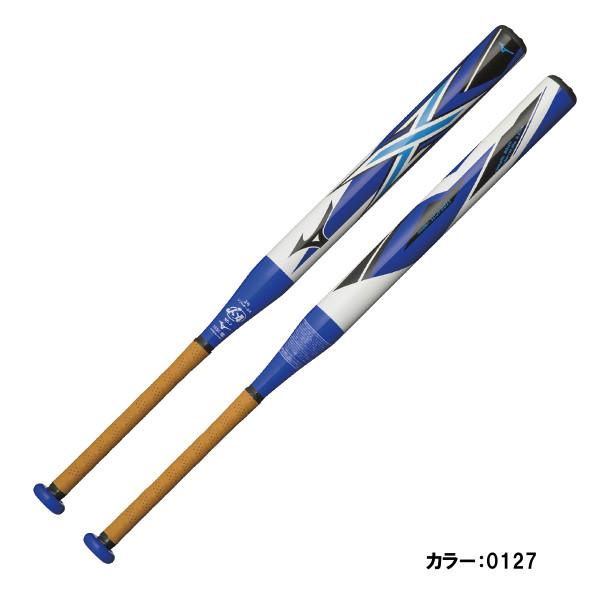 ミズノ(mizuno) ソフトボール用FRP製 1,2号ボール用 X バット 一般 (18aw) ホワイト×ブルー FRP製 78cm 平均600g 1cjfs61180