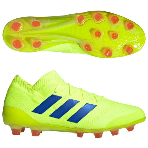 アディダス(adidas) ネメシス 18.1-ジャパン HG/AG シューズ メンズ ウィズ:D-E (19ss) ソーラーイエロー/フットボールブルー/アクティブレッドS19 f97349