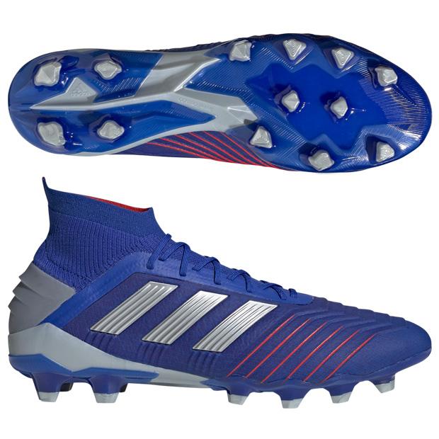 アディダス(adidas) プレデター 19.1-ジャパン HG/AG シューズ メンズ ウィズ:D-E (19ss) ボールドブルー/シルバーメット/フットボールブルー f97367