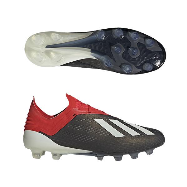 アディダス(adidas) エックス 18.1-ジャパン HG/AG シューズ メンズ ウィズ:D-E (19ss) コアブラック/ランニングホワイト/アクティブレッドS19 f97495