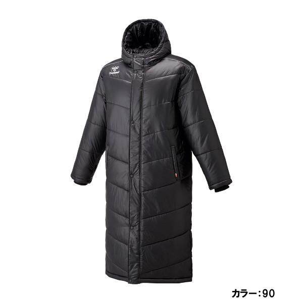 ヒュンメル(hummel) 中綿ロングコート コート メンズ/ジュニア (18fw) ブラック haw8081-90