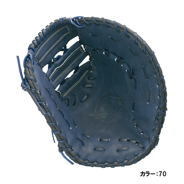 エスエスケイ(SSK) スーパーソフト 軟式一塁手用 グラブ 一般 (18fw) ネイビー 天然皮革 右投げ ssf833f-70