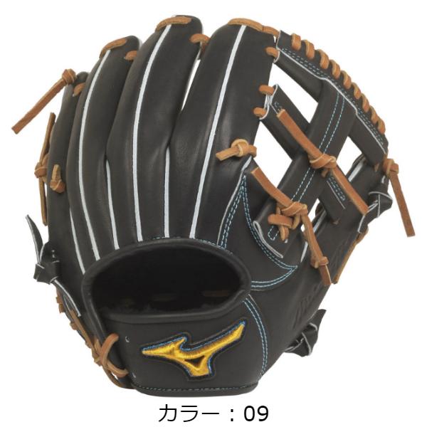 【BSSショップ限定モデル】ミズノ(mizuno) 硬式用 ミズノプロ フィンガーコアテクノロジー 硬式グラブ 内野手用II (20SS) ブラック 右投用 1AJGH22113-09 野球用品