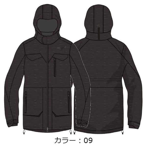 ミズノ(mizuno) ブレスサーモRGトラベルダウンジャケット ジャケット (18FW) ブラック杢 A2ME854409