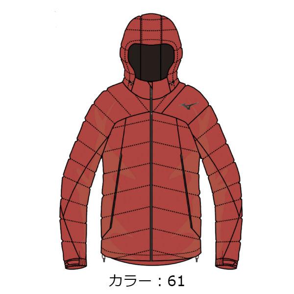 ミズノ(mizuno) ブレスサーモミドルウェイトRGダウンジャケット ジャケット (18FW) グレナディン A2ME855161【SALE0124】