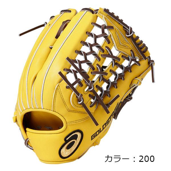 アシックス(asics) ロイヤルロード 外野手用グラブ 軟式グラブ 外野手用 (18FW) B.ゴールド/D.ブラウン LH(右投用)/RH(左投用) BGR8CV-200 野球用品