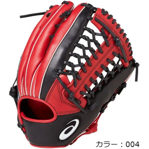 アシックス(asics) VIDSHINE ビッドシャイン ソフトボール用グラブ 外野手用 (19SS) ブラック/レッド 右投用/左投用 BGS8XU-004 野球用品