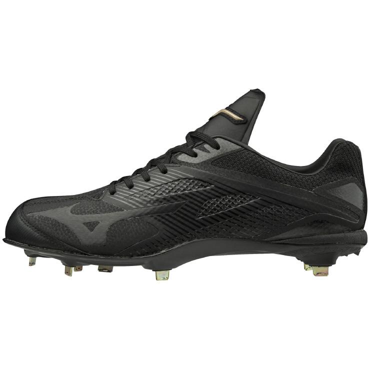 ミズノ (MIZUNO) 野球・ソフトボール用 スパイク GEハイスト QS メンズ (19ss) ブラック×ブラック 11GM191000 野球用品