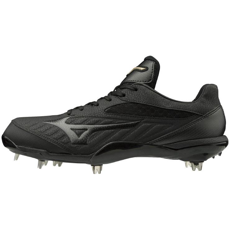ミズノ (MIZUNO) グローバルエリート 野球・ソフトボール用 スパイク QS メンズ (19ss) ブラック×ブラック 11GM191100 野球用品