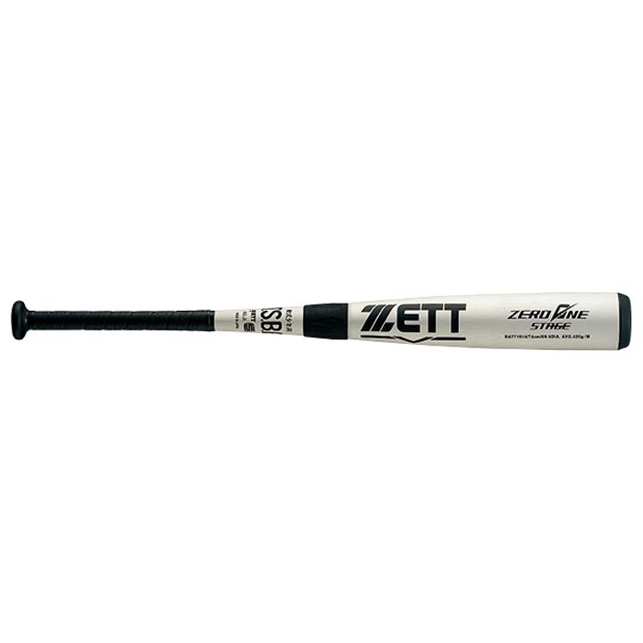 【送料無料】ゼット(ZETT) 少年軟式金属製バット ゼロワンステージ (19ss) シルバー 74cm 520g J号球対応 ミドルバランス BAT71914-1300 野球用品