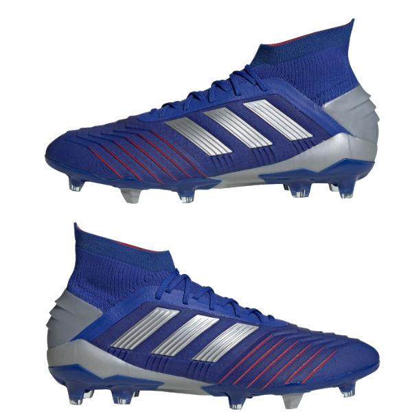 アディダス(adidas)サッカースパイク プレデター 19.1 FG/AG メンズ (19ss) ブルー×シルバー 天然芝用/人工芝用 BB9079【P10】