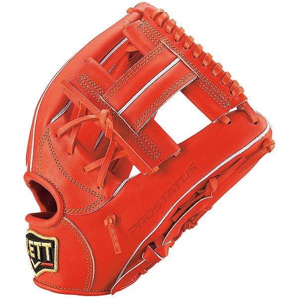 ゼット(ZETT) プロステイタス 一般軟式内野手用 二塁手・遊撃手用 (19ss) ディープオレンジ 右投げ用 サイズ2 BRGB30920-5800 野球用品
