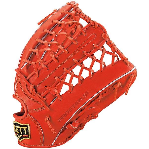 ゼット(ZETT) プロステイタス 一般軟式外野手用 (19ss) Dオレンジ 右投げ用 サイズ9 BRGB30927-5800 野球用品