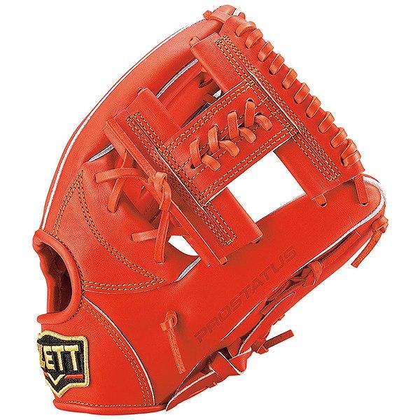 ゼット(ZETT) プロステイタス 一般軟式内野手用 二塁手・遊撃手用 (19ss) ディープオレンジ 右投げ用 サイズ3 BRGB30940-5800 野球用品