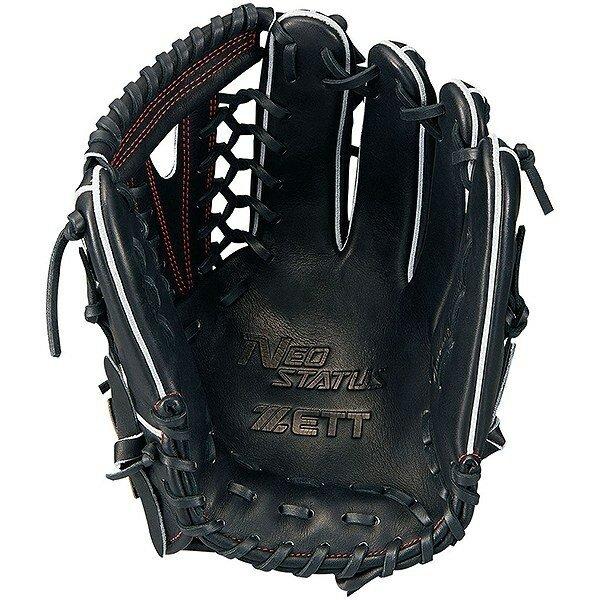 ゼット(ZETT) ネオステイタス 軟式野球 外野手用グラブ (19ss) ブラックR サイズ7 BRGB31917-1900R 野球用品