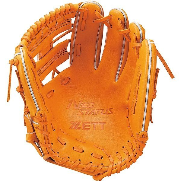 ゼット(ZETT) ネオステイタス 軟式野球 内野手用オールラウンド用グラブ (19ss) オレンジB サイズ4 BRGB31930-5600B 野球用品