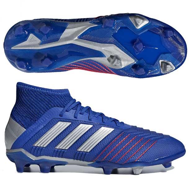 アディダス(adidas)サッカースパイク プレデター 19.1 FG/AG J ジュニア (19ss) ブルー×シルバー 天然芝用/ロングパイル人工芝用 CM8530