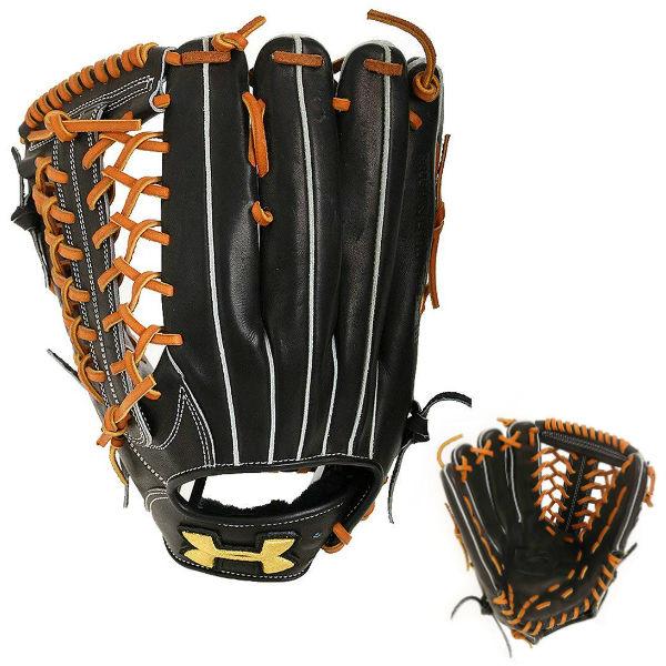 アンダーアーマー(UA)野球グラブ 硬式左投げ外野手用ブラック QBB0024-BLK
