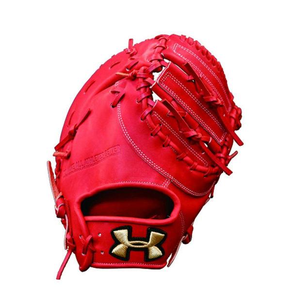 アンダーアーマー(UA)野球グラブ 硬式右投げ一塁手用レッド QBB0061-ROR【SS1903】 野球用品