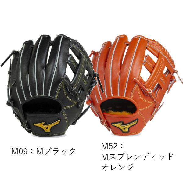 【最大4%OFFクーポン対象】【BSSショップ限定モデル】ミズノ(mizuno) 硬式用 ミズノプロ フィンガーコアテクノロジー グラブ 一般 (19fw) ラメグラブ メタリックカラー Mブラック Mスプレンディッドオレンジ 内野手用4/6 サイズ8 1AJGH21103