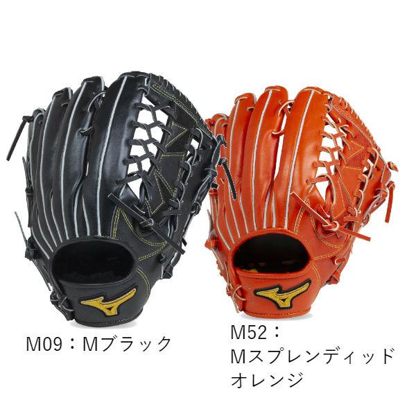 【BSSショップ限定モデル】ミズノ(mizuno) 硬式用 ミズノプロ フィンガーコアテクノロジー グラブ 一般 (19fw) ラメグラブ メタリックカラー Mブラック Mスプレンディッドオレンジ 外野手用 サイズ18N 1AJGH21107