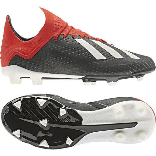 アディダス(adidas) ジュニアサッカースパイク エックス 18.1 FG/AG J ジュニア (19ss) シューズ ブラック×ホワイト×ブルー BB9351