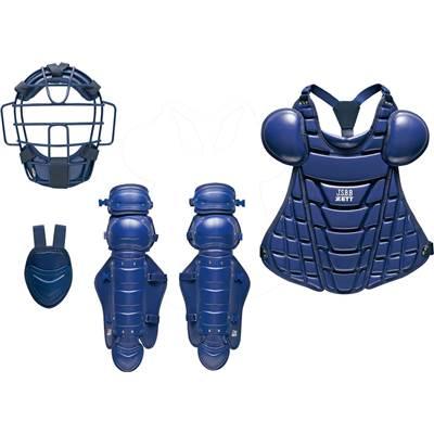 【最大4%OFFクーポン対象】ゼット(ZETT) 軟式野球 防具 4点セット 特別限定品 (19aw) ネイビー BL358-2900