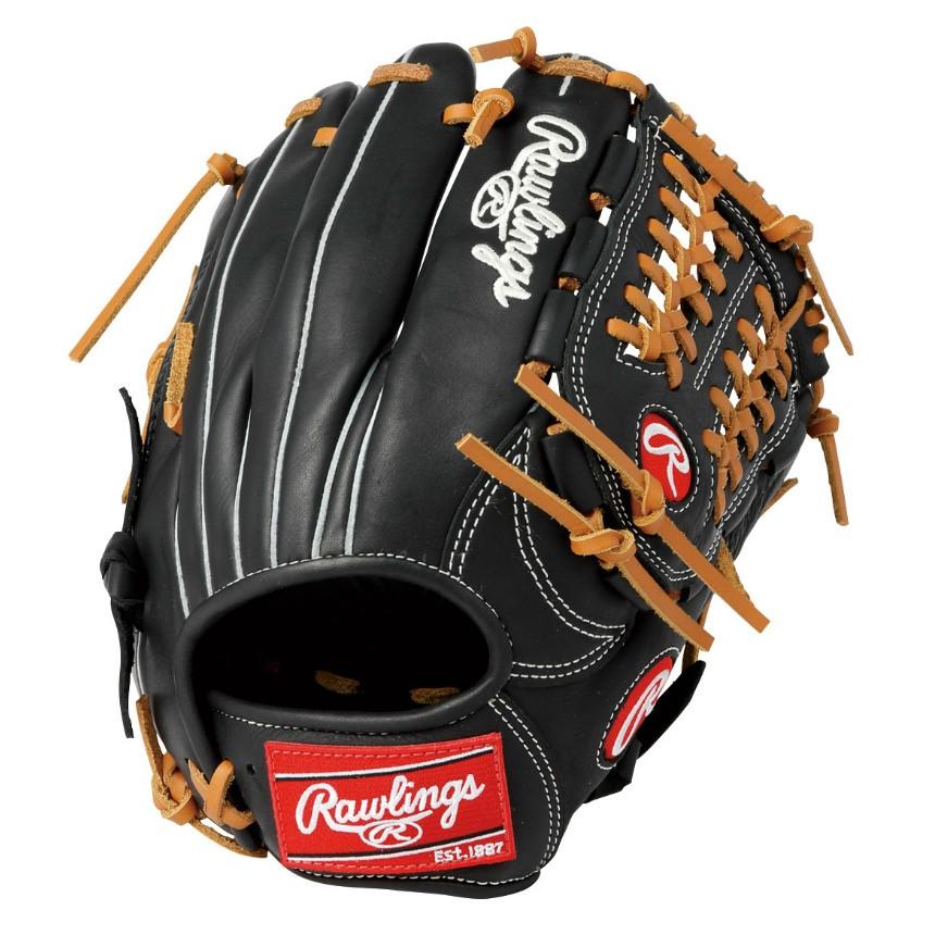 ローリングス(Rawlings) 軟式用 HYPER TECH COLORS (19ss) 一般オールフィルダー用グローブ ブラック ハイパーテック カラーズ 右投げ GR9HTCN62-B 野球用品