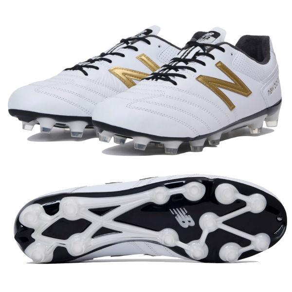ニューバランス (new balance) サッカー スパイク シューズ 442 PRO HG メンズ (19ss) ホワイト×ゴールド 2E MSCKHWG1-2E