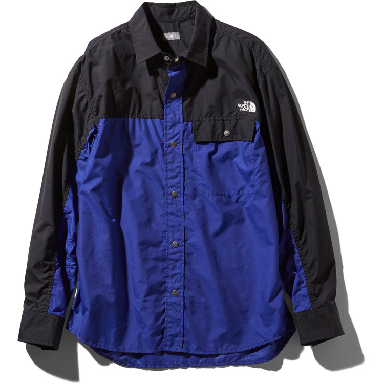 ザ・ノースフェイス(THE NORTH FACE) ロングスリーブヌプシシャツ L/S Nuptse Shirt ユニセックス (19ss) アズテックブルー NR11961-AB