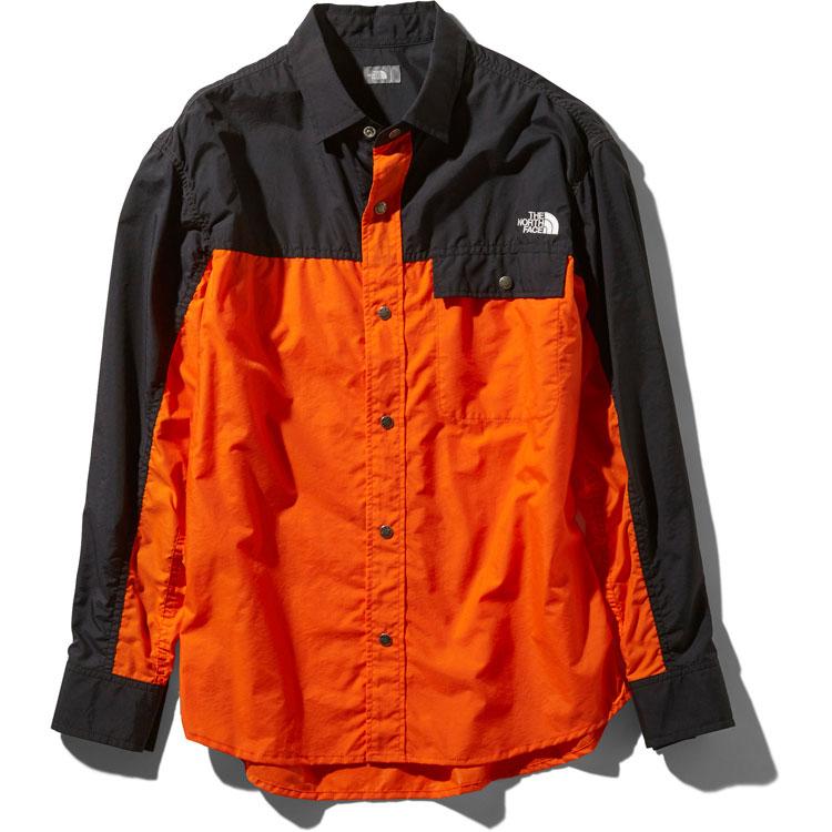 ザ・ノースフェイス(THE NORTH FACE) ロングスリーブヌプシシャツ L/S Nuptse Shirt ユニセックス (19ss) ペルシャンオレンジ NR11961-PO