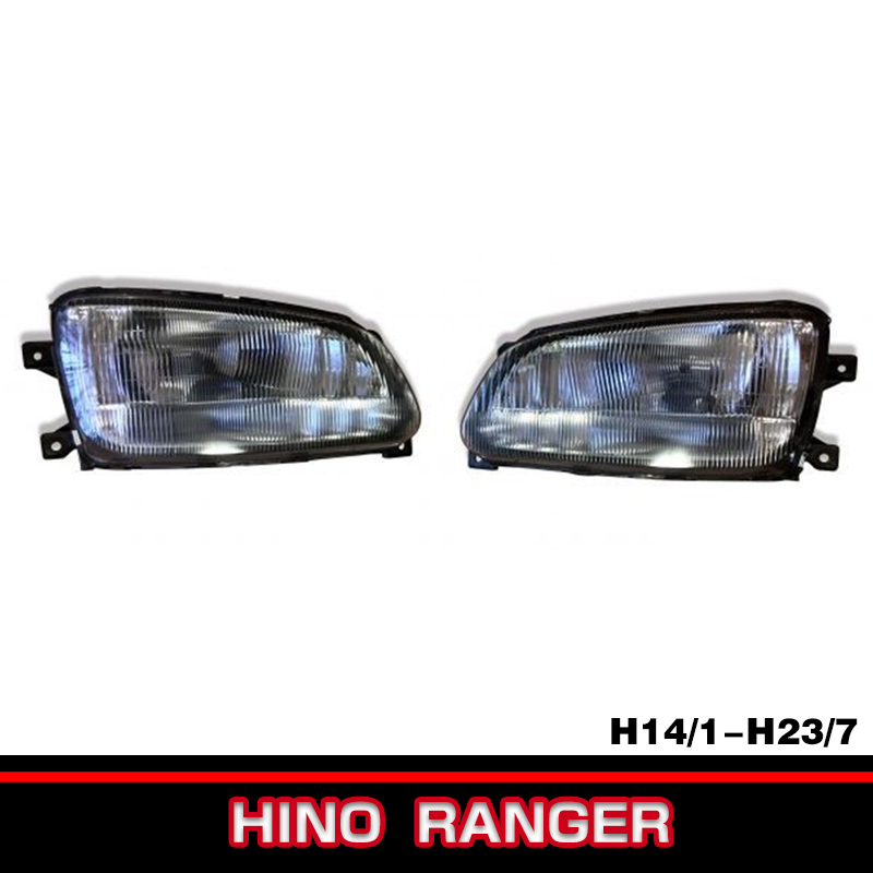 HINO 日野 レンジャー プロ 前期 純正 タイプ ハロゲン ヘッドライト 左右 新品 左側走行 日本仕様 イエローフォグ